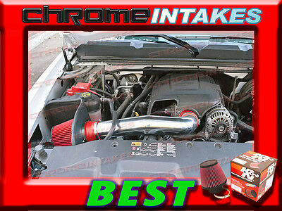 NEW K/&N+RED 2009-2013 CHEVY SILVERADO//AVALANCHE//SIERRA//ESCALADE COLD AIR INTAKE