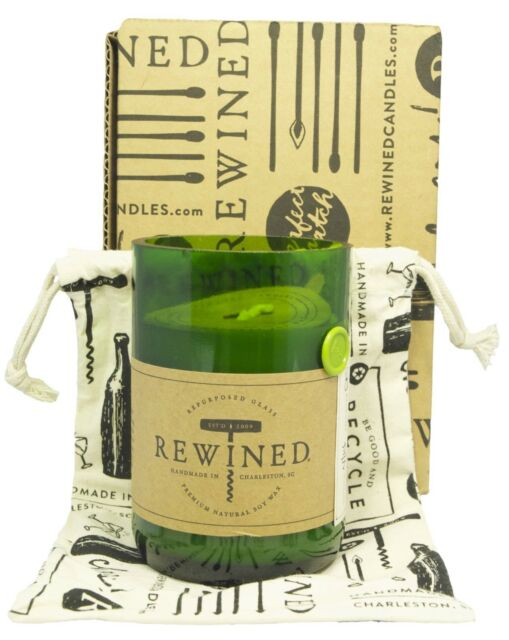 REWINED Soy Candle in Recycled Wine Bottles -Wine Under The Tree - Ltd Edition