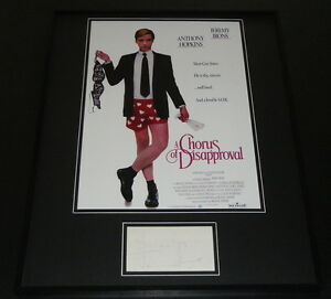 Jeremy-Irons-Signed-Framed-16x20-Chorus-of-Disapproval-Poster-Display