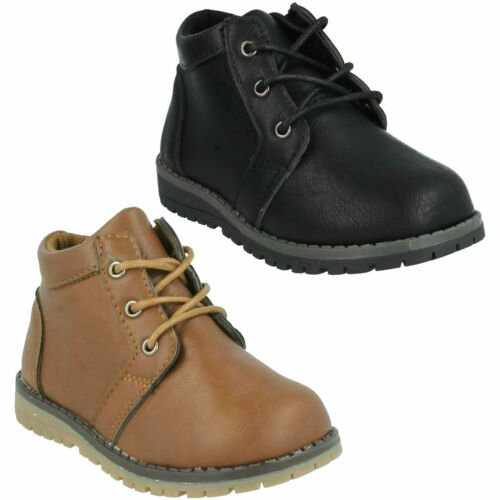 BOYS JCDEES LACE UP ROUND TOE SMART CASUAL EVERYDAY ANKLE BOOTS SHOES  N2042