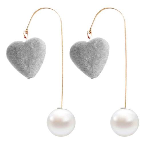 Damen Ohrhänger perlen Ohrstecker mode Ohrringe Herz Form Lange Ohrring elegant