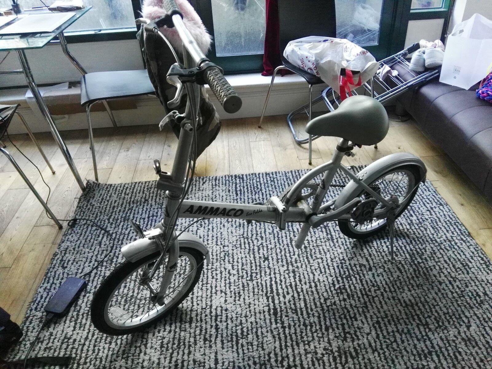 Ammaco Eco Folda Grey Bike