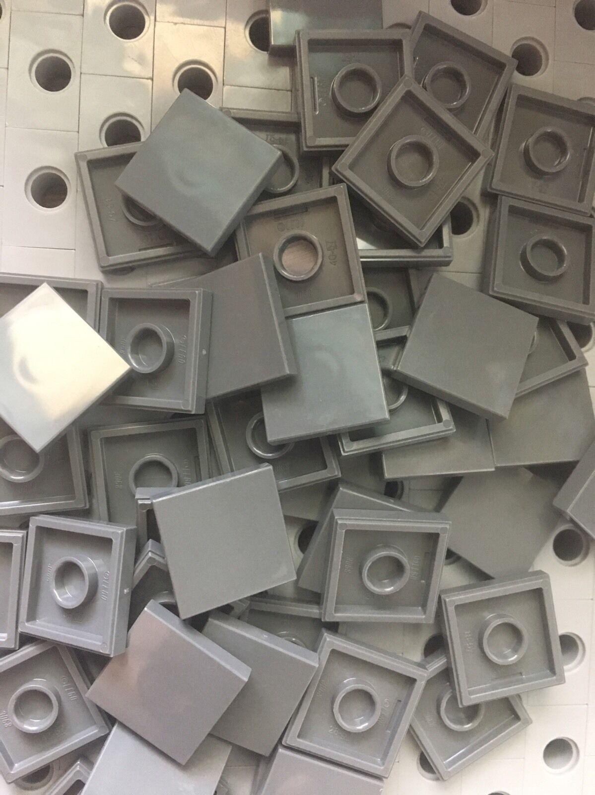 Lego Tile Medium Blue Flat 2x2 Tiles Smooth Finishing MODULAR BUILDINGS Floor 50