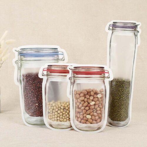 Kitchen Reusable Food Jar Bag Snack Biscuits Mason Bottles Leakproof Bag