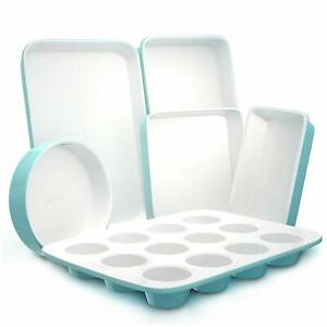 Nutrichef-NCBK6CT5-Deluxe-Non-Stick-Bake-Tray-Sheet-Bakeware-Set-Ceramic-Style