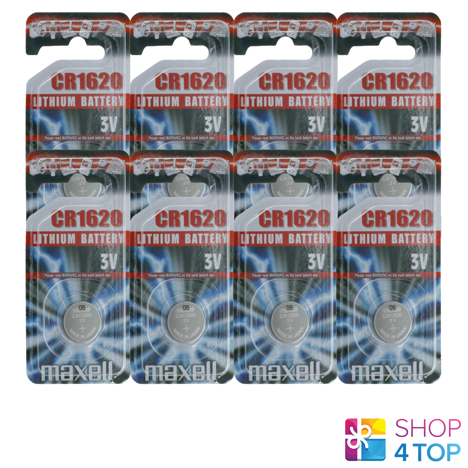 8 maxell cr1620 lithium button cell batteries 3v dl other 1620 exp 2022 new