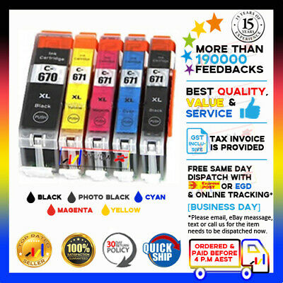 10x Ink Cartridge PGI670 670xl CLI671 Compatible For Canon PIXMA Inkjet Printers