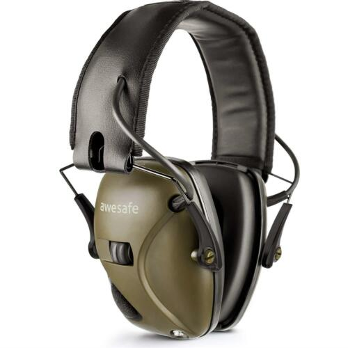 Grey Electronic Ear Defenders Comfort Sport Safe Shooting Earmuffs Protection