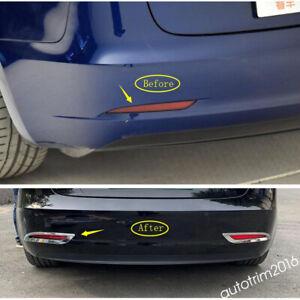 Chrome Rear Bumper Tail Fog Lights Lamp Cover Trim For ...