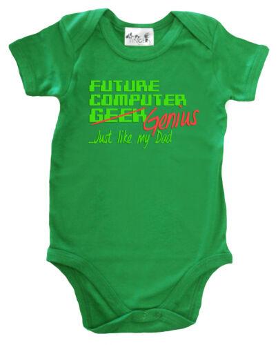 "Dirty Fingers /"" Future Computer Geek Genie Just Like Dad /"" Lustig Body"