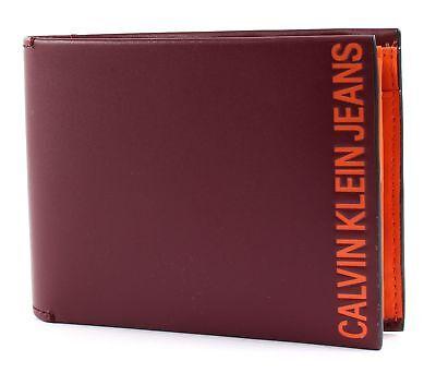 Umoristico Calvin Klein Logo Pop Billfold With Coin Portafoglio Twany Porta Rosso Arancione Nuovo-mostra Il Titolo Originale