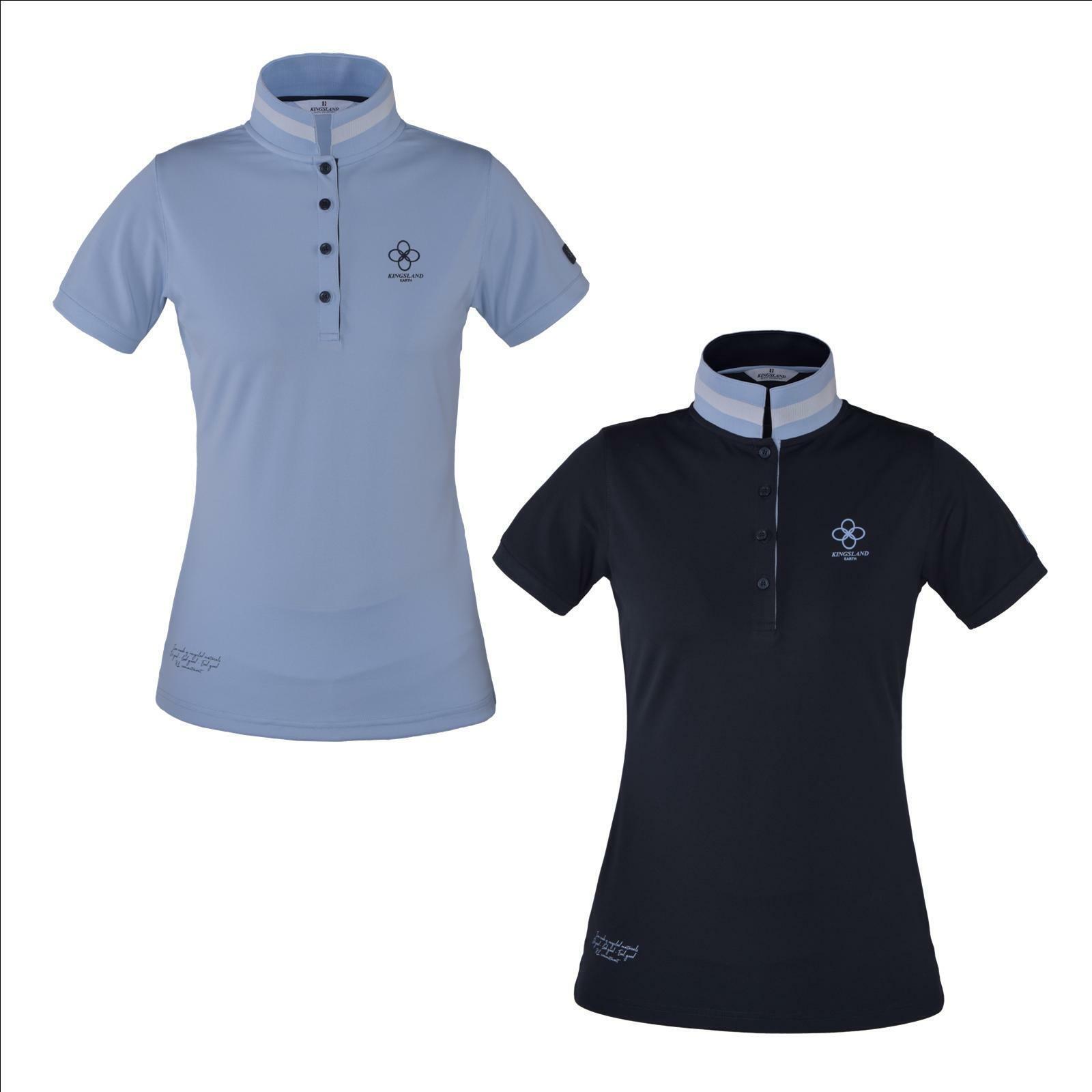 Kingsland EARTH - Kollektion Recyceltes Piqué-Poloshirt für Damen   KL_CHERRY