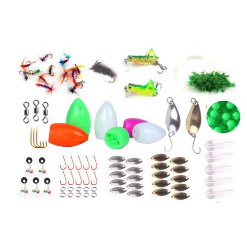 UK 74pcs Fishing Lure Accessories Tool Tackles Soft Swimbaits Tail Jig Hooks Box