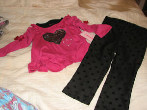 BNWTS Nannette Baby Girls' 3-Piece Tank, Long-Sleeve Top & Pants Se SZ 24 MONTHS