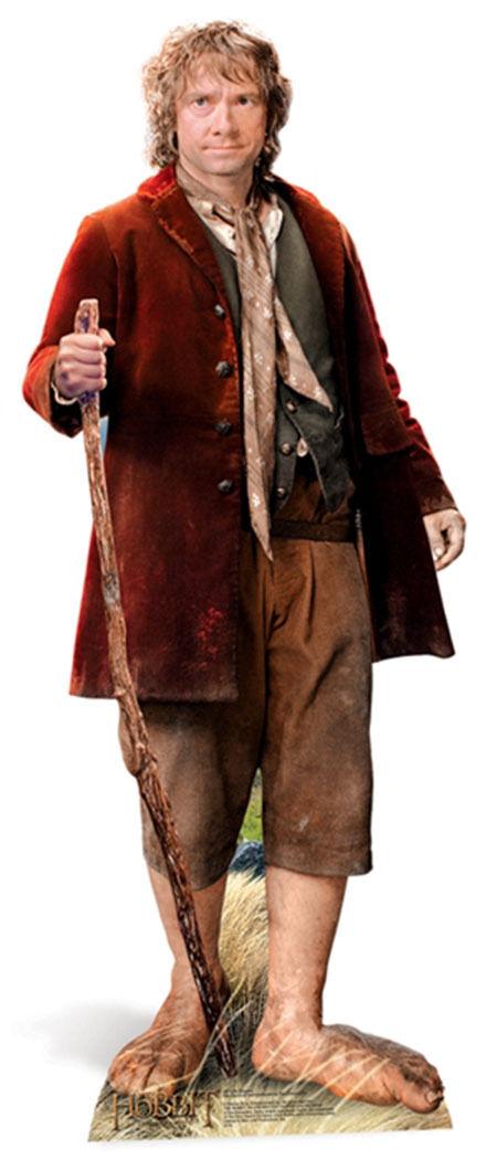 Bilbo Baggins The Hobbit LIFEGröße CARDBOARD CUTOUT Standee Martin Freeman smaug