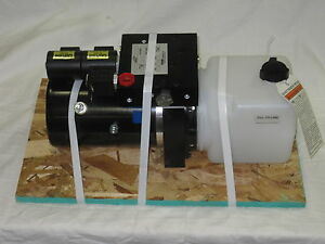HINIKER SNOW PLOW POWER UNIT PUMP 4 FUNCTION OEM p/n: 25012775 25014033  DB7929-1   eBayeBay