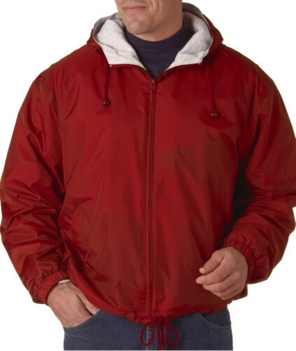 UltraClub Mens Sweatshirt Fleece-Lined Hooded Jacket 8915
