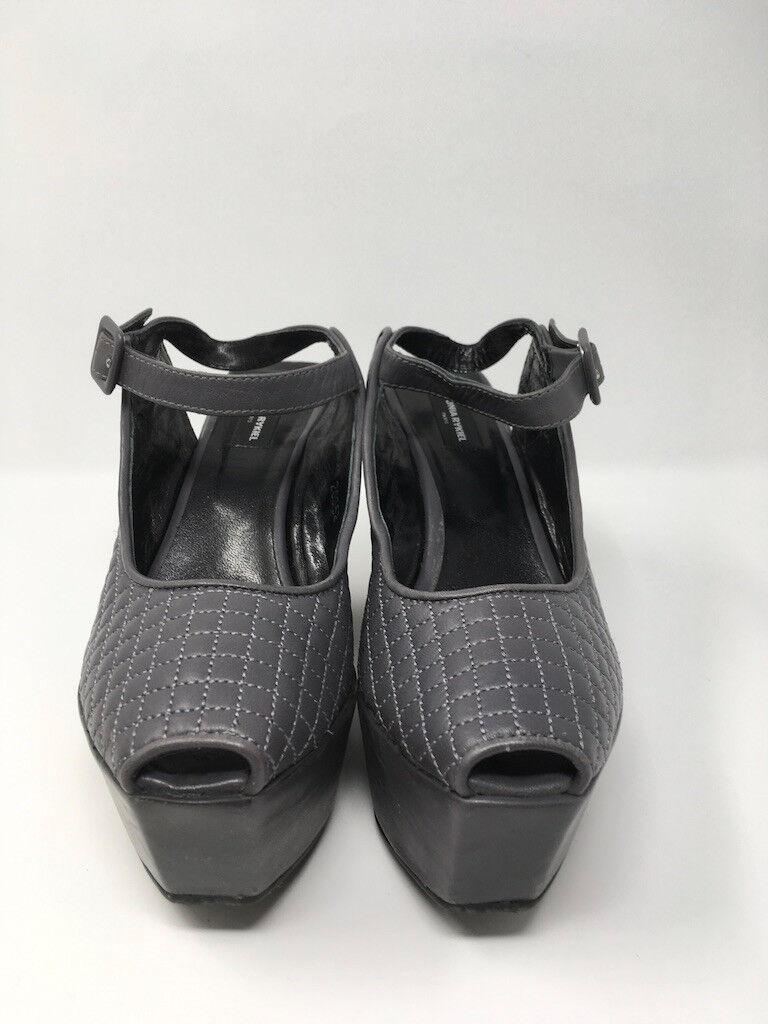 Brand New Sonia Sonia Sonia Rykiel Wedge Slingbacks Peep Toe Sandals womens size 7, Grey 04d93d