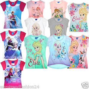 942aa60b6f Das Bild wird geladen Disney-Frozen-Die-Eiskoenigin-Elsa-Anna-Sommershirt -Shirt-