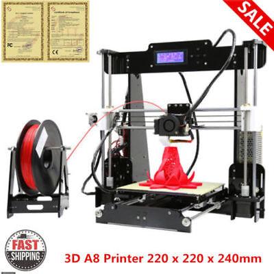 Anet A8 impresora Printer Reprap i3 3D Acrylic DIY Prusa 1.75mm Impresión Kit ES