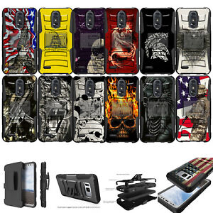 Details about For [ LG K20, LG Grace, Harmony] Rugged Hybrid Heavy Duty  Holster Case Clip Cool