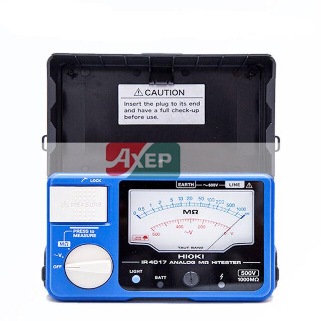 A● Hioki IR4017-20 Single-Range Analog Insulation Resistance Tester 500V/1000MΩ
