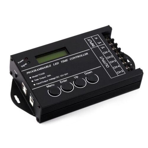 TC420 Time programmable RGB LED Controller DC12V-24V 5Channel LED Tim dimmer SNU