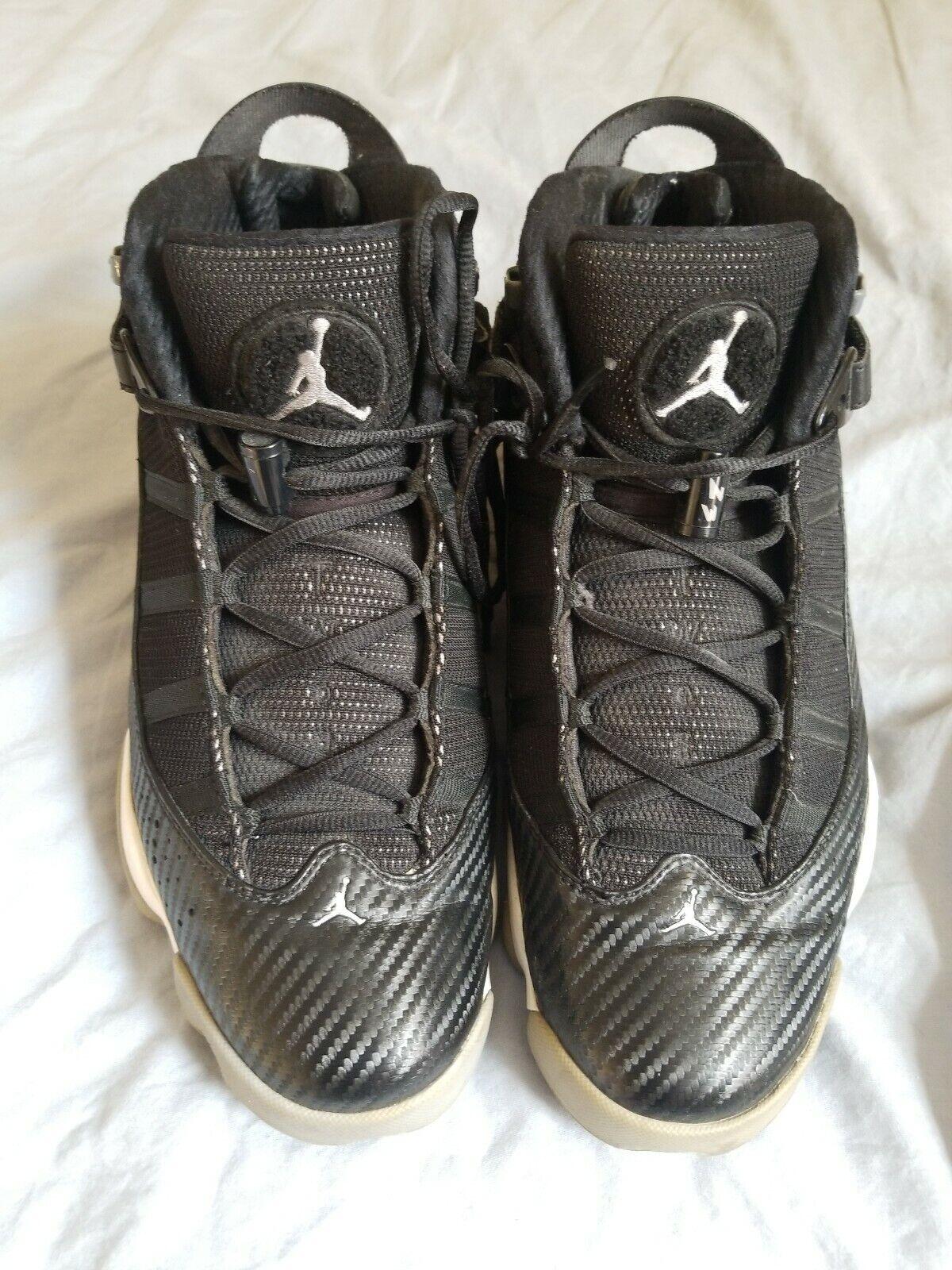 """d10b57f5508feb Nike Air Jordan 6 6 6 Rings """"Carbon Fiber"""" Black Medium Grey 322992 ..."""