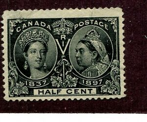 Image Is Loading CANADA SCOTT 50 HALF CENT STAMP CANCELLED 1055G