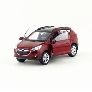 1-36-Hyundai-Tucson-IX35-SUV-Die-Cast-Modellauto-Spielzeug-Rot-Sammlung-Kinder
