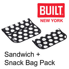 BUILT New York  Sandwich & Snack Bag Pack - Neoprene Sleeve Lunch Box - 2 Pack