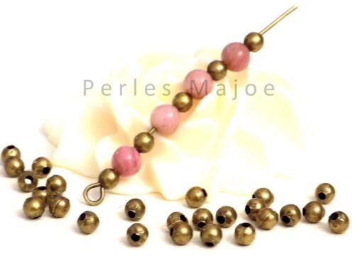 Lot de 200 perles entredoises rondes couleur bronze antique dimensions 3.2 mm