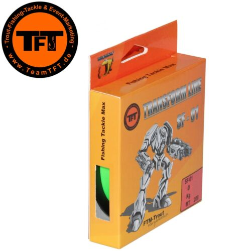 0,04€//1m Mo Angelschnur Monoschnur TFT Transform Line SF-01 200m Fluo grün