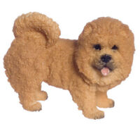 Dollhouse Miniature Dog Chow Chow Standing Falcon Minis 1:12 Scale