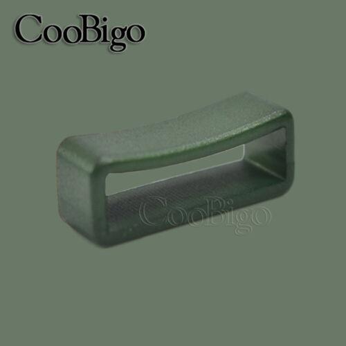"100X 1/"" 27mm Belt Loop Keeper Buckle Webbing Belt Collar Buckle"