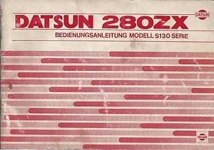 DATSUN-280-ZX-Betriebsanleitung-1978-Bedienungsanleitung-Handbuch-Bordbuch-BA
