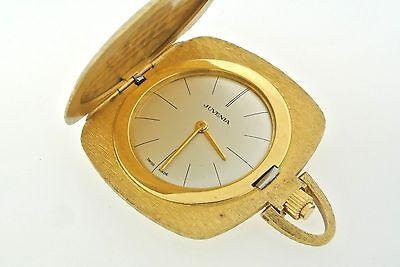 Juvenia Estate 18k Yellow Gold Pocket Watch 37.5gm Swiss Made