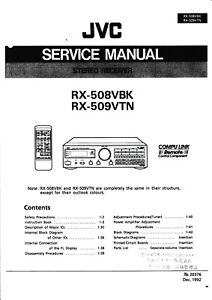 Service Manual-anleitung+instruction Book Für Jvc Rx-508 Rx-509 Elegantes Und Robustes Paket Tv, Video & Audio
