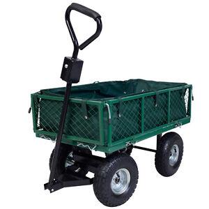 Image Is Loading Heavy Duty Garden Cart Trolley Truck 4 Wheel