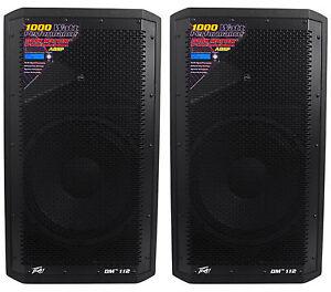 """(2) Peavey DM 112 12"""" 1000W Active Powered PA Speakers+Digital DSP"""