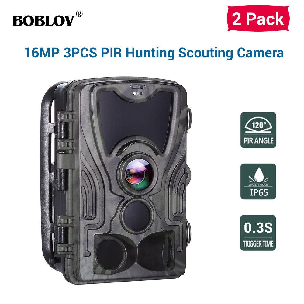 2 Pack HC801A 16MP 1080P Caza Trail Scouting cámara de visión nocturna Cámara Hogar