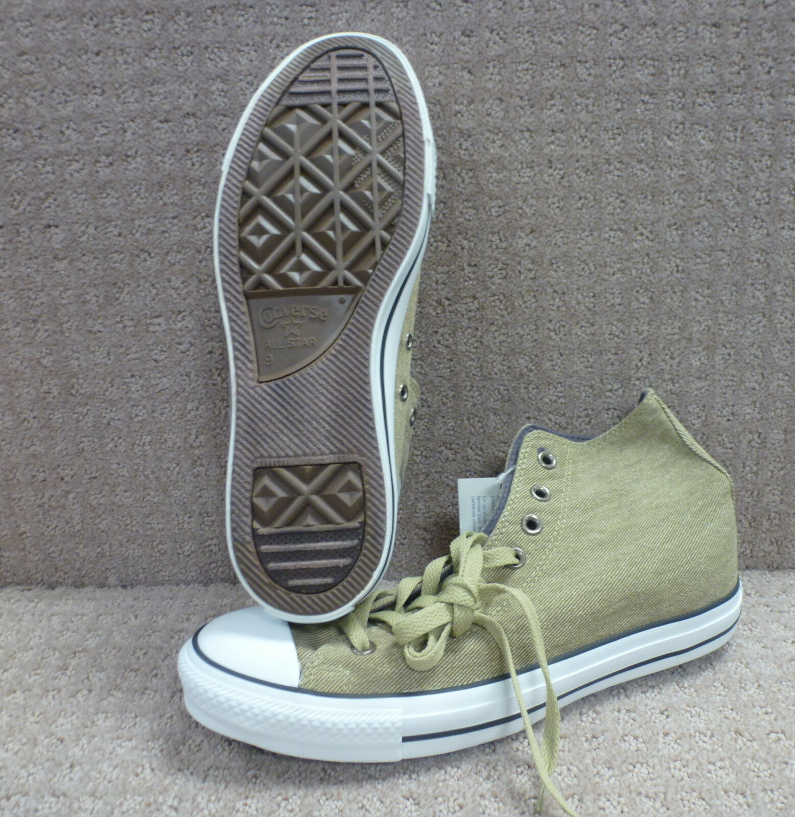 Converse Men's shoes's Ct High--Size 9, color Olive Grey