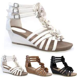 11cb0d6a5932 Details about LADIES WEDGE SANDALS WOMENS HEELS NEW FANCY SUMMER DRESS  PARTY BEACH SHOES SIZE