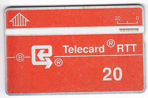 EUROPE-TELECARTE-PHONECARD-BELGIQUE-20U-L-amp-G-RARE-107D-NOTCHED