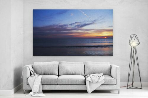 SUNSET SKY SEA BEACH Perfect View Canvas Wall Art Picture Large L572 X MATAGA