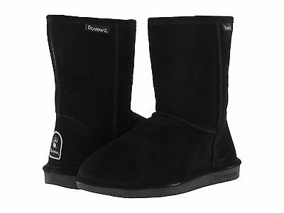 Women Bearpaw Emma Short 608W Black Suede 100% Authentic Brand New