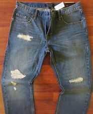 Banana Republic Straight Leg Jeans Mens Size 30 X 32 Vintage Distressed Wash NEW