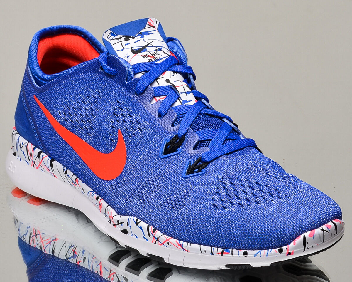 Nike WMNS 5 Free 5.0 TR Fit 5 WMNS Print V Damenss train training Turnschuhe Blau crimson 841096