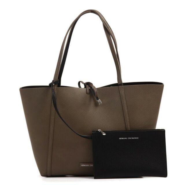 Borsa Armani Jeans Shopping bag nero trapuntata in ecopelle mediagrande tote bag | eBay