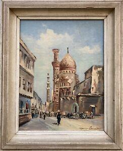 Street-in-Cairo-Hans-Schmitt-Rue-De-La-Mosquee-Al-Azhar-Mosque-Egypt-33-x-27